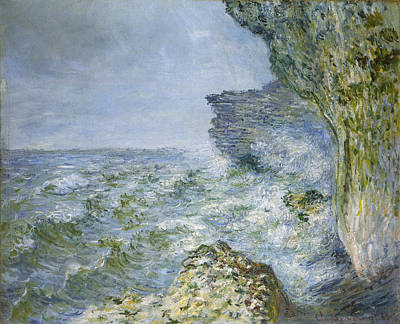 Seashore Painting - The Sea At Fecamp by Claude Monet