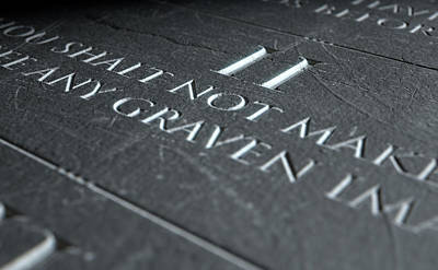 Christian Images Digital Art - The Second Commandment by Allan Swart