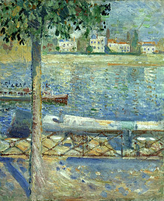 Expressionist Painting - The Seine At Saint-cloud by Edvard Munch