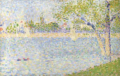 Jatte Digital Art - The Seine Seen From La Grande Jatte by PixBreak Art