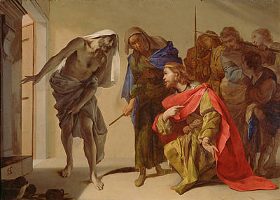 The Shade Of Samuel Invoked By Saul Painting - The Shade Of Samuel Invoked By Saul by Bernardo Cavallino