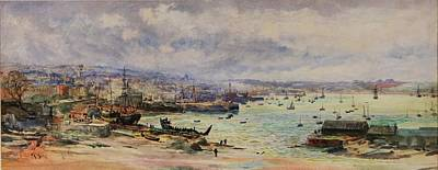 Sutton Painting - The Shipyards by William Lionel
