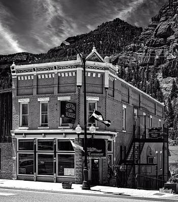Black Commerce Photograph - The Silver Nugget Restaurant by Mountain Dreams
