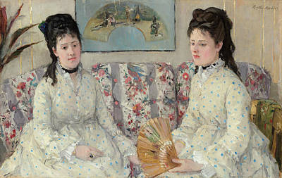 Siblings Painting - The Sisters by Berthe Morisot