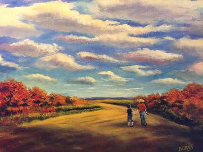 Painting - The Sky That Day by Randol Burns