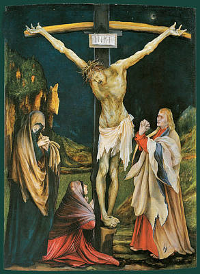 Religious Art Painting - The Small Crucifixion by Matthias Grunewald