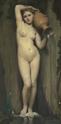 Ingres Painting - The Spring by Jean-Auguste-Dominique Ingres