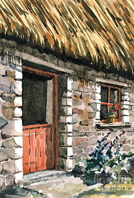 Painting - The Stone House by Val Byrne
