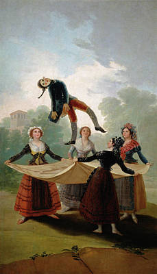 Spanish Painting - The Straw Manikin by Francisco Goya