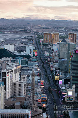 The Strip At Night, Las Vegas Art Print