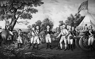 Military Hero Drawing - The Surrender Of General Burgoyne by War Is Hell Store