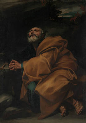 Painting - The Tears Of Saint Peter by Jusepe de Ribera