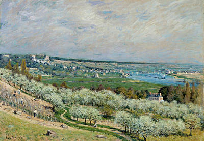 Painting - The Terrace At Saint-germain, Spring by Alfred Sisley