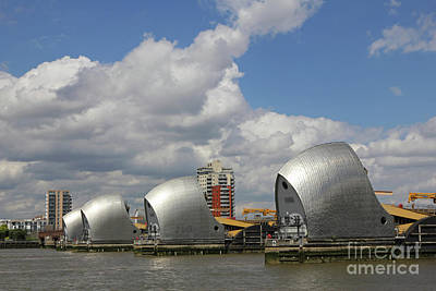 Photograph - The Thames Barrier London  by Julia Gavin
