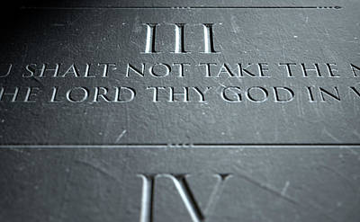 The Third Commandment Art Print