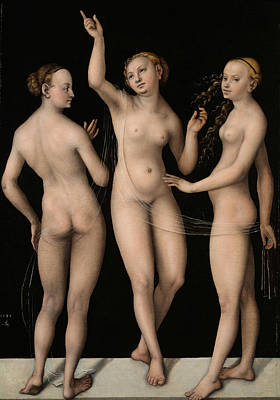 Painting - The Three Graces by Lucas Cranach the Elder