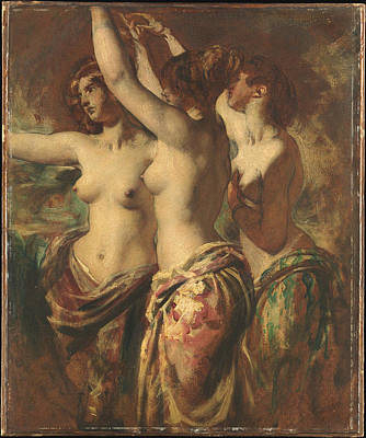 Plump Women Wall Art - Painting - The Three Graces by William Etty