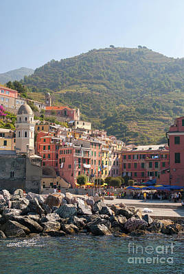 Photograph - The Town Of Manarola by Rod Jones