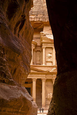 Photograph - The Treasury Of Petra by Michele Burgess