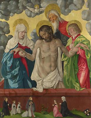 Pieta Digital Art - The Trinity And Mystic Pieta by Hans Baldung Grien