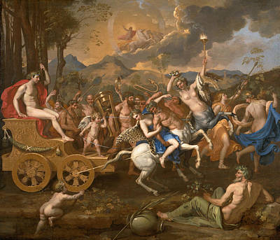 Centaur Painting - The Triumph Of Bacchus by Nicolas Poussin