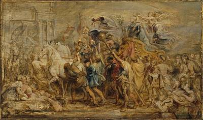 Peter Painting - The Triumph Of Henry Iv by Peter Paul Rubens