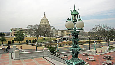 Photograph - The United States Capitol From The Library Of Congress by Cora Wandel