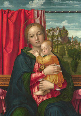 Hugging Saint Painting - The Virgin And Child by Francesco Morone