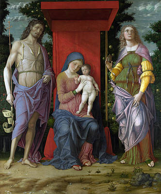 Children Painting - The Virgin And Child With Saints by Andrea Mantegna