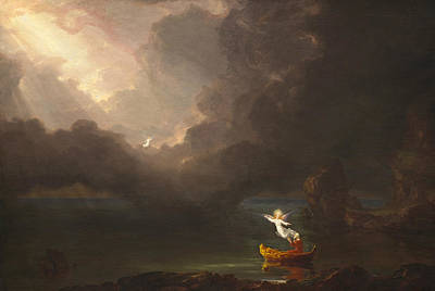 Old Age Painting - The Voyage Of Life, Old Age by Thomas Cole
