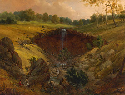 Victoria Painting - The Wannon Falls by Mountain Dreams