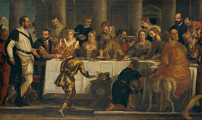 The Wedding At Cana Art Print by Paolo Veronese