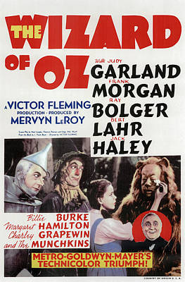 Classic Film Star Mixed Media - The Wizard Of Oz 1939 by Mountain Dreams