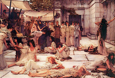 Digital Art - The Women Of Amphissa by Sir Lawrence Alma Tadema