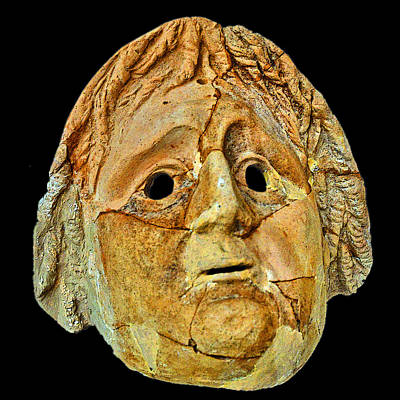 Theatrical Masks. Graecoroman Period. Original by Andy Za