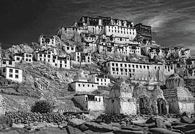 Tibetan Buddhism Photograph - Thiksey Monastery by Steve Harrington