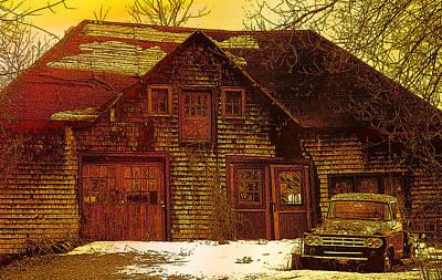 Digital Art - This Old Barn by Iris Gelbart