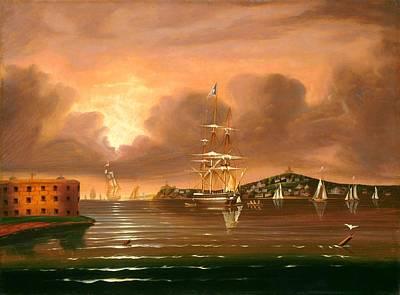 Threatening Sky - Bay Of New York Art Print by Mountain Dreams