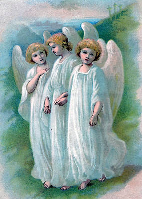 Photograph - Three Angels by Munir Alawi