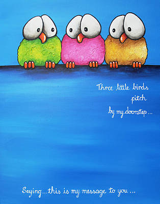 Pitch Painting - Three Little Birds by Lucia Stewart