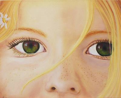 Eyes Of A Child Painting - Through A Child's Eye's by Jeanette Sthamann