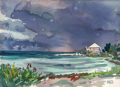Thunderstorm Over Key West Art Print