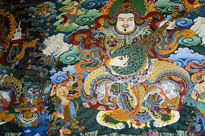Photograph - Tibetan Buddhist Mural by Michele Burgess