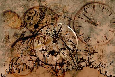 Financial Mixed Media - Time by FL collection