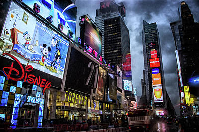 Times Square Print by Martin Newman