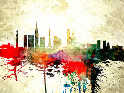 Tokyo Skyline Mixed Media - Tokyo by Daniel Janda