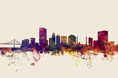 Toledo Ohio Skyline Art Print