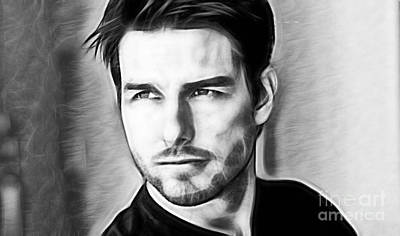 Icons Mixed Media - Tom Cruise Collection by Marvin Blaine