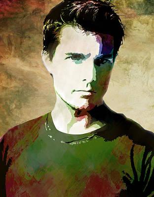 Tom Cruise Art Print by Elena Kosvincheva