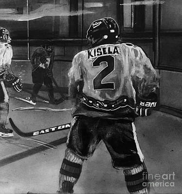 Flyers Hockey Drawing - #2 Tom Kisela Ice Dog National Champions 2011-2012 by Gary Reising